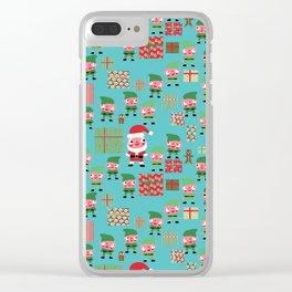 Santa's Workshop Clear iPhone Case