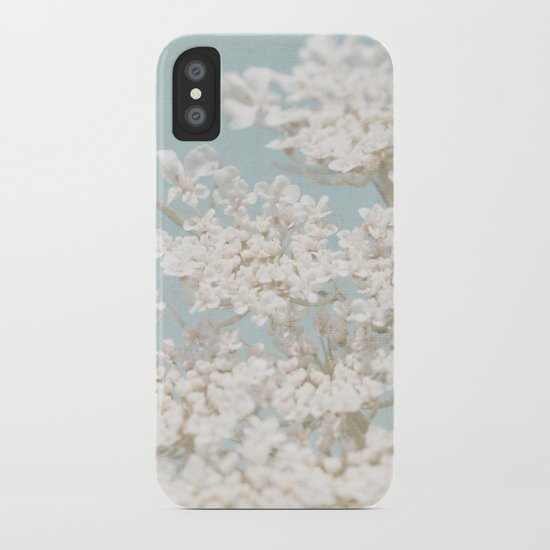 Pale Aqua: Dreaming of Spring iPhone Case