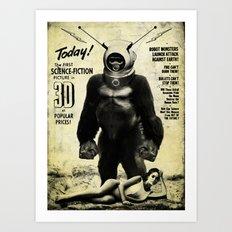 Robot Monster Art Print