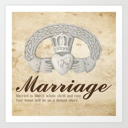 March Marriage Art Print