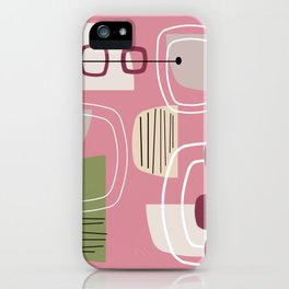 Pink Mid Century Modern iPhone Case