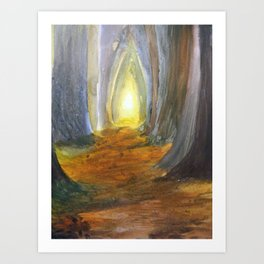 Mysterious Forest Art Print