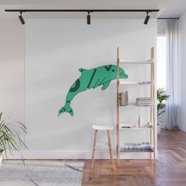 FADED DOLPHIN Wall Mural