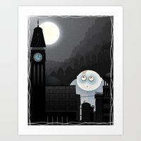 Lost child of the moon Art Print