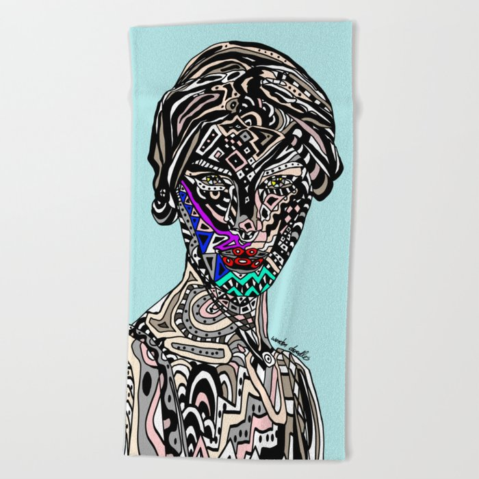 Millenium Space Goddess Beach Towel