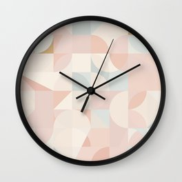Nude Abstraction / Neutral Geometry Wall Clock