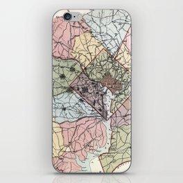 Map of Washington City - 1891 iPhone Skin