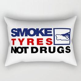 SMOKE TYRES NOT DRUGS v5 HQvector Rectangular Pillow