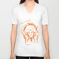 anchorman V-neck T-shirts featuring Anchorman: Dreams of Fantana!!! by Red Misery