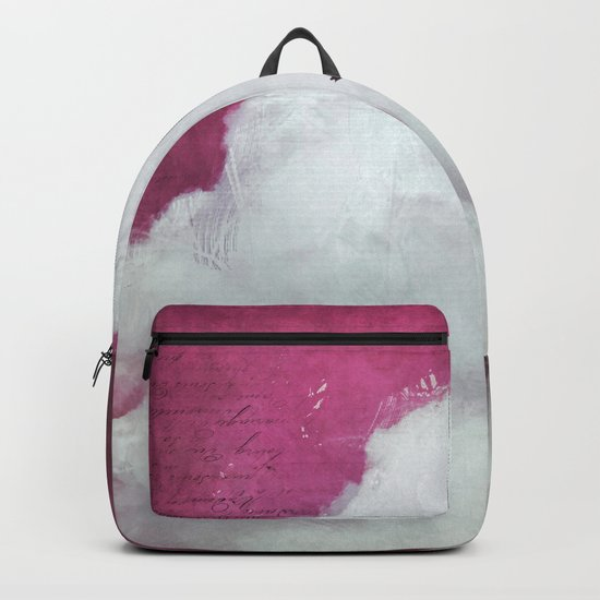 the cloud - bright red sky version Backpack