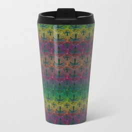 Flower Power Sunset Metal Travel Mug