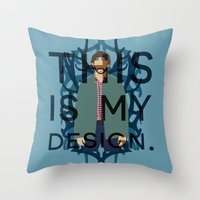 will graham Throw Pillows featuring Hannibal - Will Graham by MacGuffin Designs