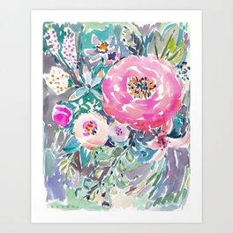 Wild Peony Floral Art Print