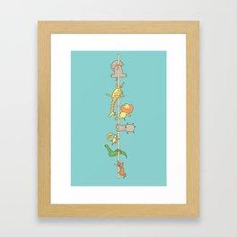 I love pole dancing Framed Art Print