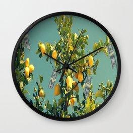 Where Troubles Melt Like Lemondrops Wall Clock