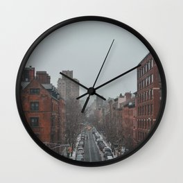 Snowy New York Wall Clock
