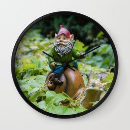 At  Snails Pace Wall Clock