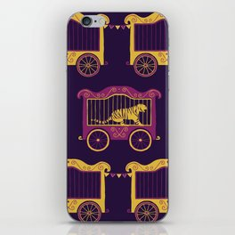 Colourful Circus Carriages iPhone Skin