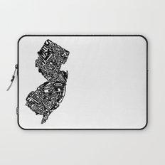 Typographic New Jersey Laptop Sleeve