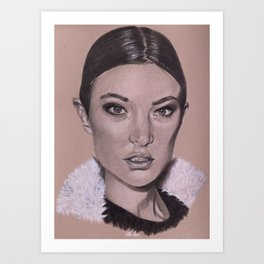 Miss J Art Print