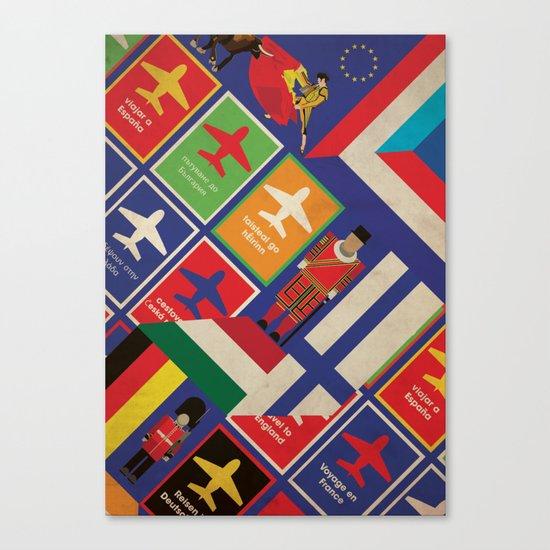 EU Travel Poster Canvas Print