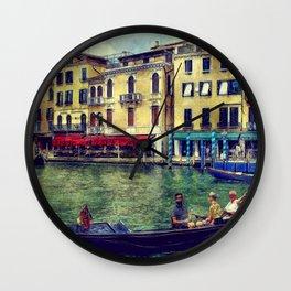Venice Channel Gondola Italy Architecture Wall Clock