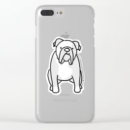 Winston the English Bulldog Clear iPhone Case