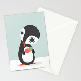 Pingu Loves Icecream Stationery Cards