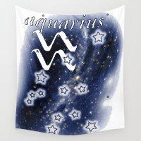 aquarius Wall Tapestries featuring Aquarius by arTistn