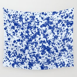 blue splatter Wall Tapestry
