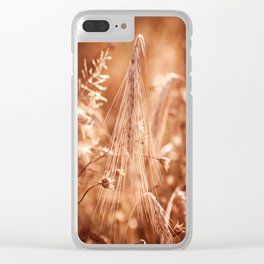 Golden old withered cereal ear grow Clear iPhone Case