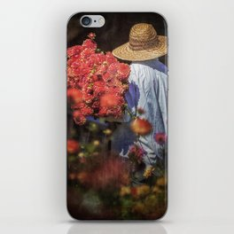 Picking the Flowers iPhone Skin