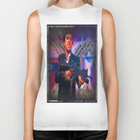 scarface Biker Tanks featuring scarface by Vector Art