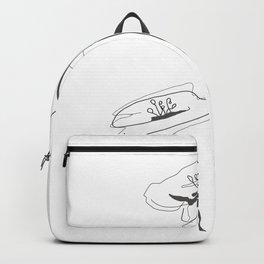 Line Art of Flowers Backpack