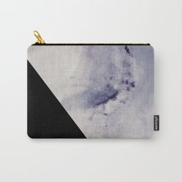 Blue Marble with Black Geometry Carry-All Pouch