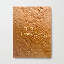 Happy Thanksgiving! Pumpkin Pie Painting Metal Print