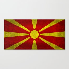 Flag of Macedonia in Super Grunge Canvas Print