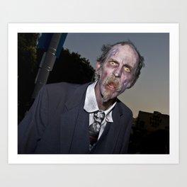 elderly zombie Art Print