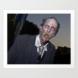 elderly zombie Art Print