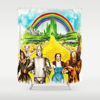 oz Shower Curtains featuring Sphynx goes to OZ by Psyca