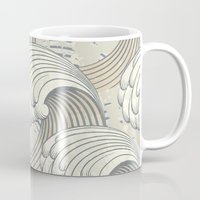 waves Mugs featuring waves by Vickn