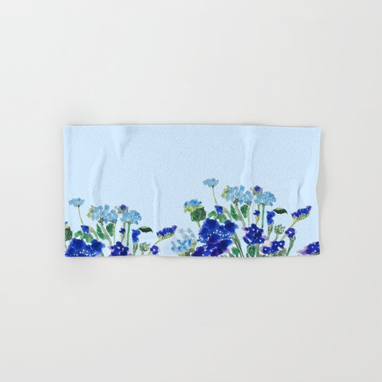 blue flower Hand & Bath Towel