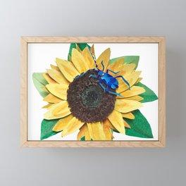 Big Yellow Sunflower Framed Mini Art Print