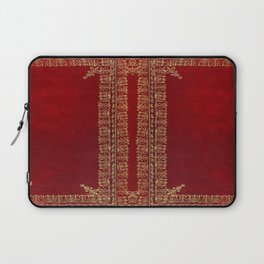 Red and Gilded Gold Book Laptop Sleeve