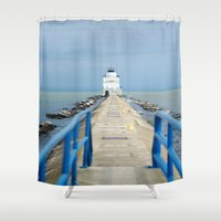 lighthouse Shower Curtains featuring Lighthouse by MelissaLaDouxPhoto