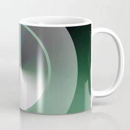 Serene Simple Hub Cap in Green Coffee Mug