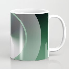 Serene Simple Hub Cap in Green Coffee Mug