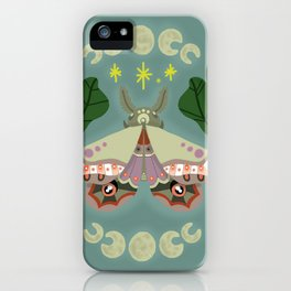 Patterned Moth iPhone Case