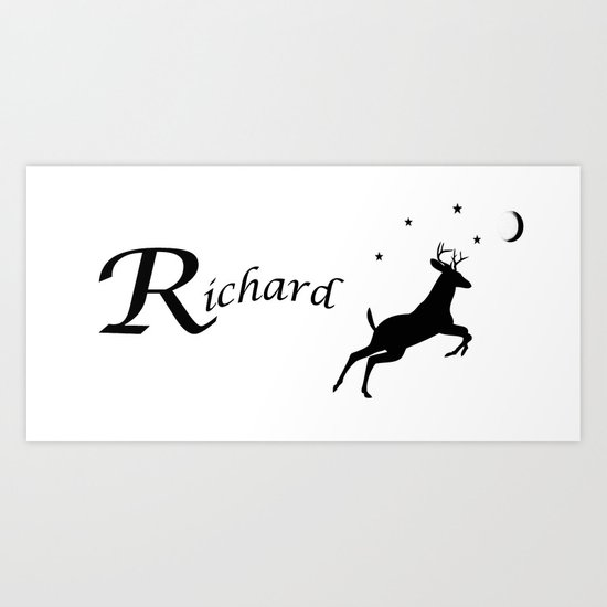 Richard Personalized Mug Art Print