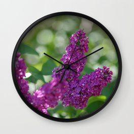 Lilac scent in the spring Wall Clock